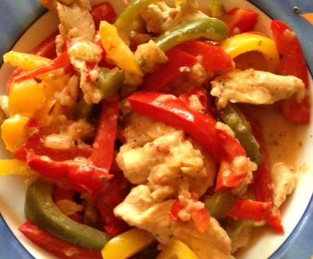 Hähnchenfilet mit Paprikagemüse (Low Carb) All-in-one von Saliana auf www.rezeptwelt.de, der Thermomix ® Community