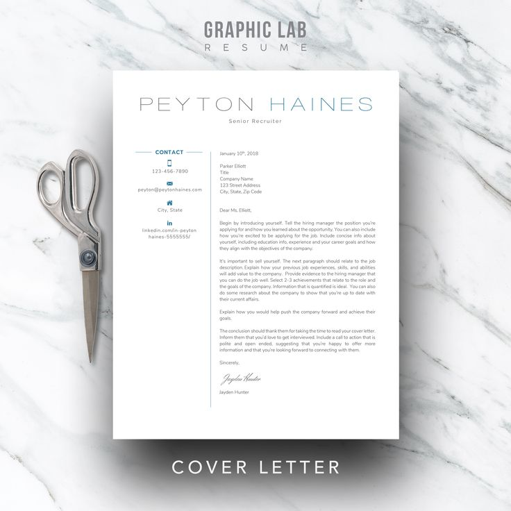 Coordinating resume and cover letter templates that