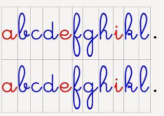 Crapouillotage: Alphabet mobile (lettres cursives)