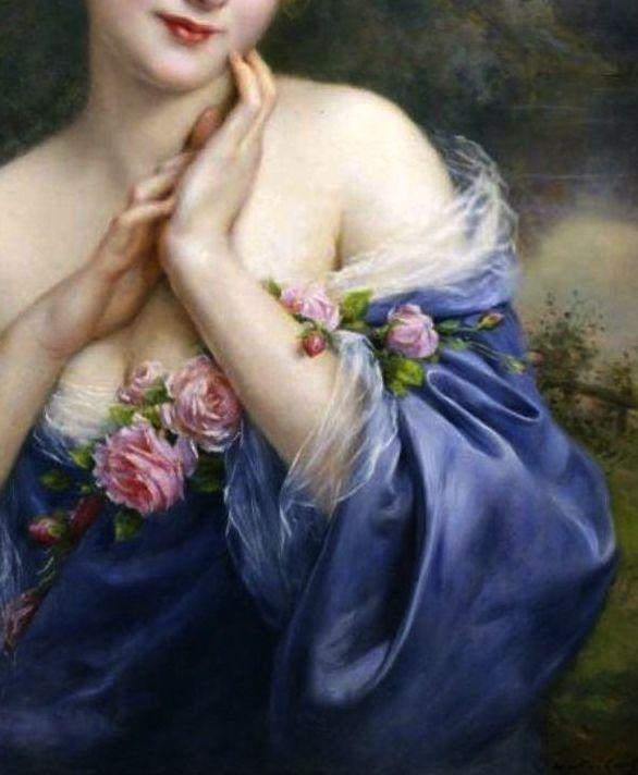 """A Summer Rose"" (detail) by François Martin-Kavel (1861-1931)."