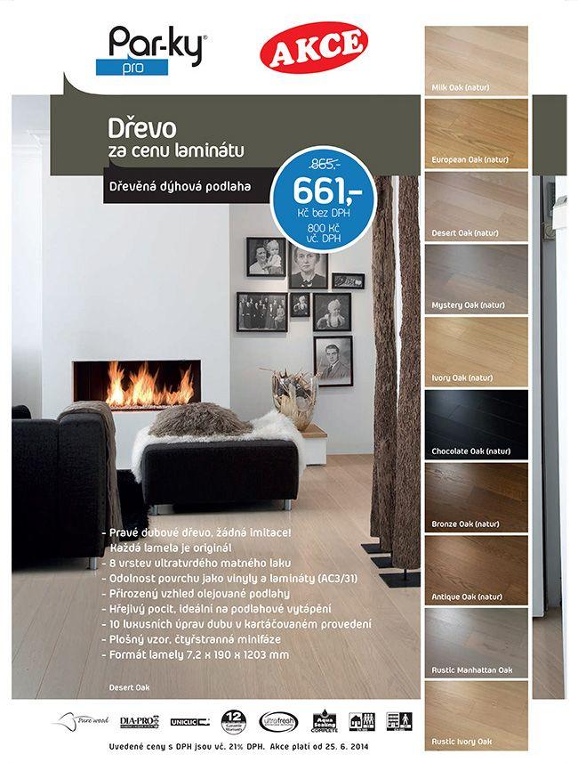 Dřevo za cenu laminátu ! Podlahy s pravou dřevěnou dýhou ošetřené 8 vrstvami ultratvrdého matného laku v deseti luxusních úpravách dubu. http://podlahove-studio.com/content/26-dyhove-podlahy-akce