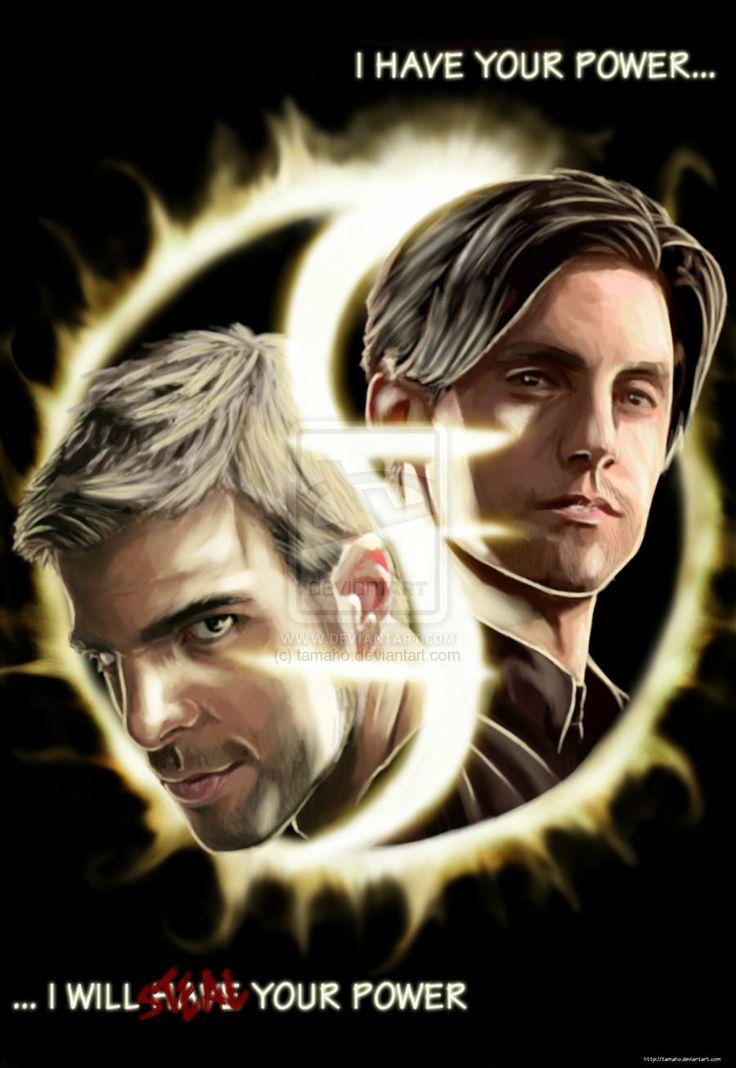 HEROES : Sylar vs Peter by tamaho.deviantart.com