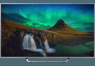 Silver 55 tum LED TV från Sony med 4K Ultra HD, 100 Hz, 3D, Smart TV, WiFi och Triluminos-skärm som passar utmärkt till film samt tv-spel.