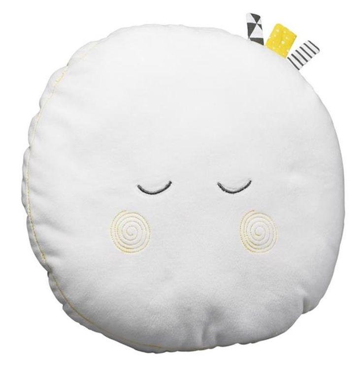 Petit coussin décoratif en velours de la collection #Babyfan de chez #Sauthon Déco tout doux en forme de lune... #babyfansauthon #sauthondéco #coussindéco #coussinsauthon #coussindécosauthon #coussindécolune #