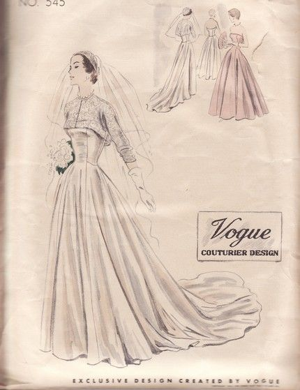 Vogue Couture wedding gown pattern