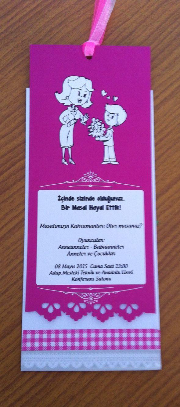Anneler günü davetiye