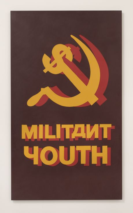 Militant Youth   2010   Plastic, wood   170 x 100 cm   Brett Murray