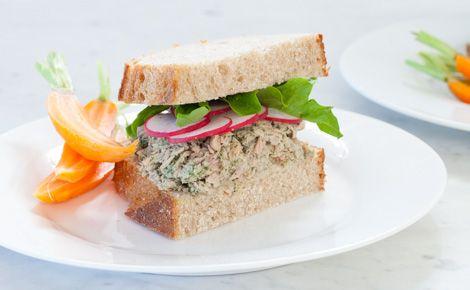 Lemon Basil Tuna Sandwiches #backtoschool