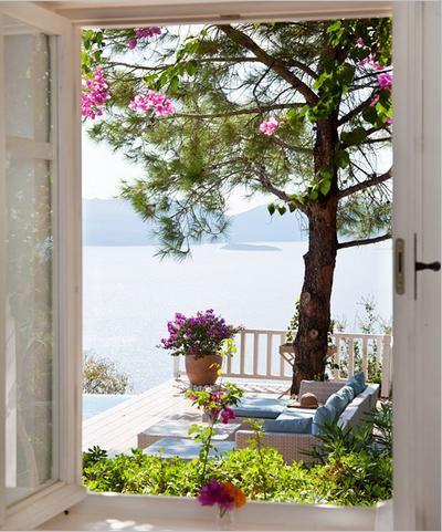 Terrace - Sogut Bay in Gokova Gulf, Turkey