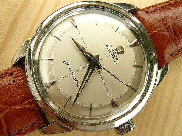 Omega Seamaster Automatic steel two tone dial 1958 | Vintage Watches