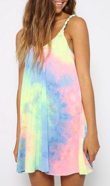 Cute colorful tie dye dress