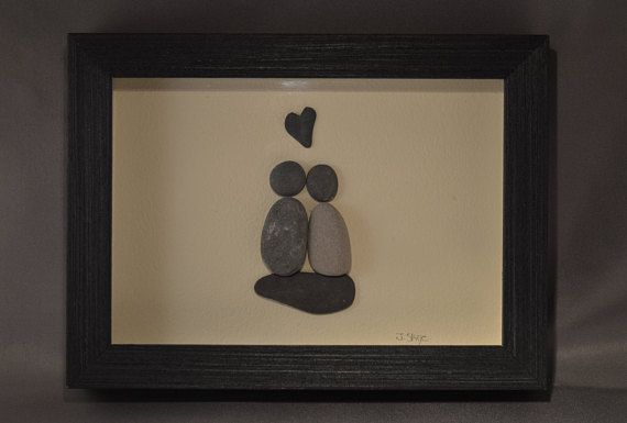 Two people together forever! 5x7 black frame.