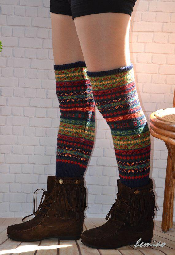 12a449e21f1 Knit womens leg warmers thigh high socks.over knee socks