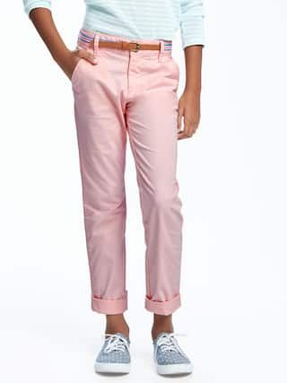 Belted Skinny Twill Pants for Girls   Old Navy