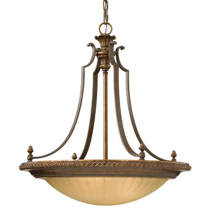 LAMPA wisząca KELHAM HALL FE/KELHAM HALL4 Elstead FEISS ZWIS klasyczna OPRAWA patyna kremowy