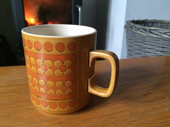 Hornsea Saffron mug / cup / vintage 1970s / designed by John