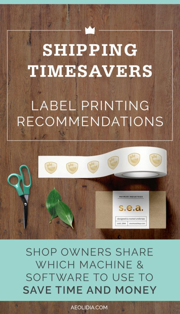 Are you printing shipping labels on regular paper, cutting, and taping to envelopes and boxes? Curious how much time and money a label printer will save you? Click to read more, or save this pin to read later!
