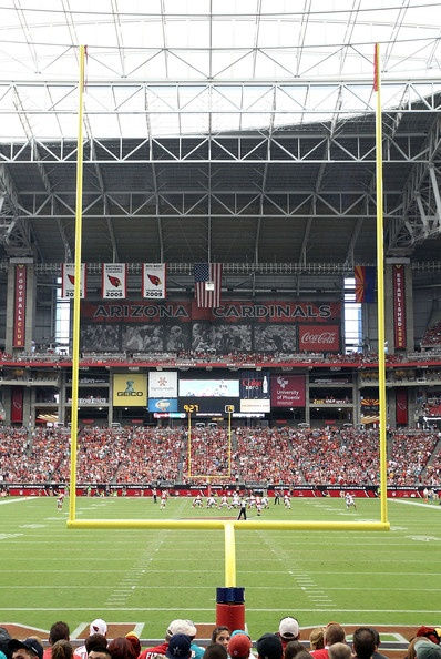 General view of action between the Arizona Cardinals and the Miami Dolphins during the NFL game at the University of Phoenix Stadium on September 30, 2012 in Glendale, Arizona.