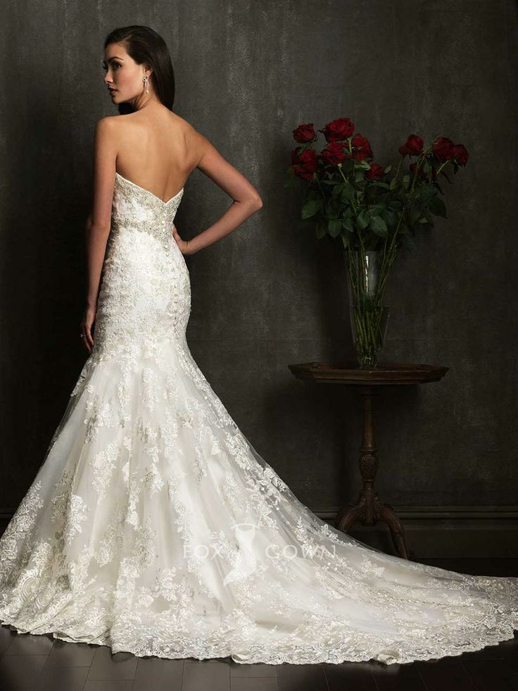backless trumpet wedding dress