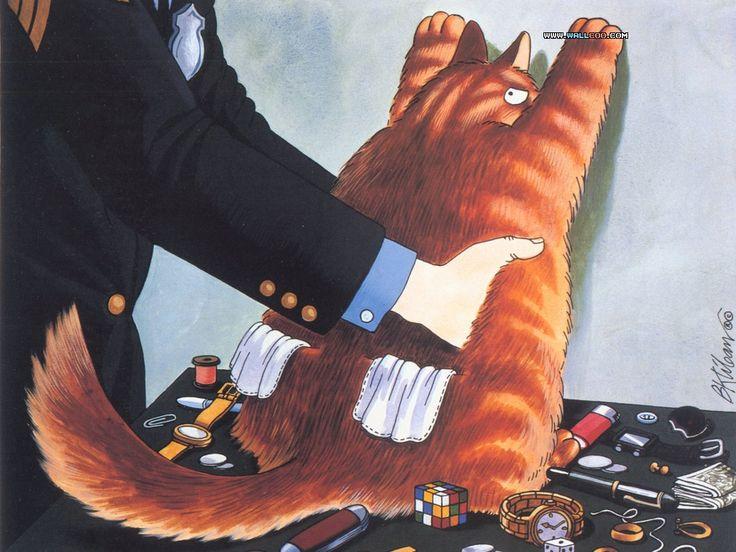 Kliban Cat Postcard Pickpocket Gets Frisked