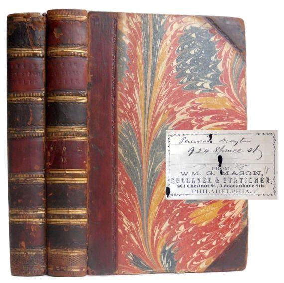 Civil War autograph 1848 naval history books SIGNED by LuxLibri