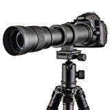 Fotga 420-800mm f/8.3-16 Super Telezoom Objektiv Teleobjektiv Zoomobjektiv Vario-Objektiv Lens mit T-Nikon T2 Adapter fuer Nikon D7200 D7100 D7000 D5500 D5300 D5200 D3300 D3200 D3100 D3000 D850 D810 D750 D610 D500 D90 D80 D4S und merh SLR Kamera