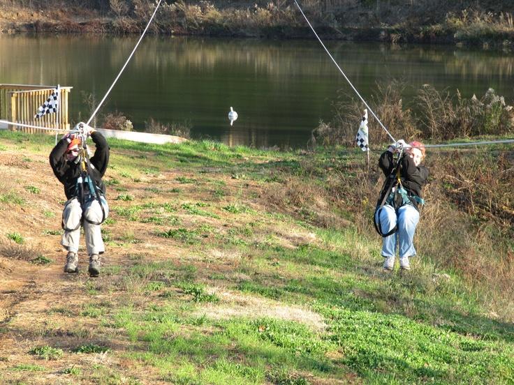 Dual Racing Zipline At North Georgia Canopy Tours