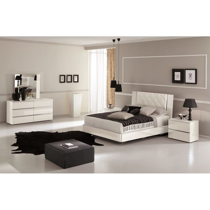 Bon Stella Bedroom Set In White By Ju0026M