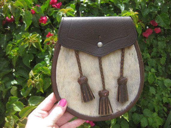 Scottish Sporran Cowhide Leather Kilt by MyLittleSomethings