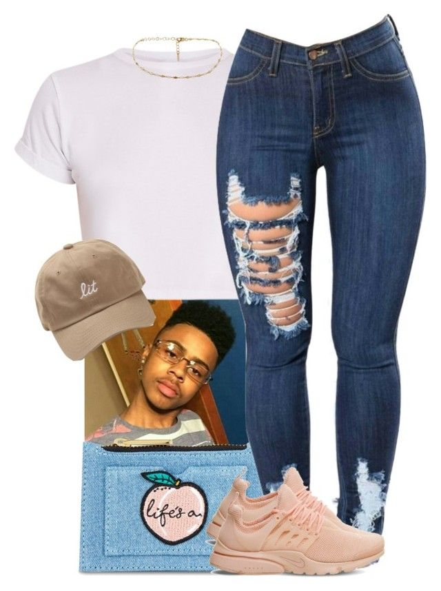 """F it up Kenneth!"" by trinsowavy ❤ liked on Polyvore featuring Skinnydip and NIKE"