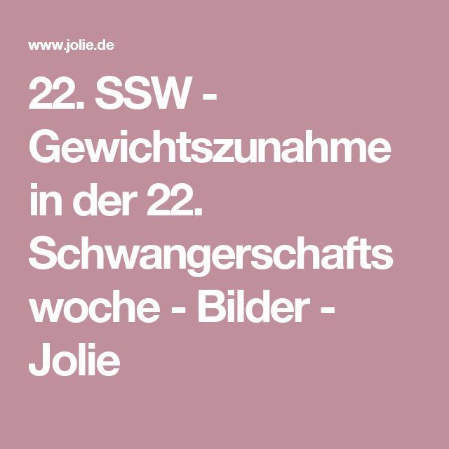 22. SSW - Gewichtszunahme in der 22. Schwangerschaftswoche - Bilder - Jolie
