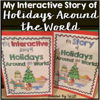 Holidays Around the World reading and writing lessons during the month of December are some of our favorite lesson plans of the year. These printables and activities allow your students to read, write and create the story of holidays around the world in an interactive way that helps them learn a lot of non-fiction information fast...Just in time to take these keepsake books home to share during their own family holidays!