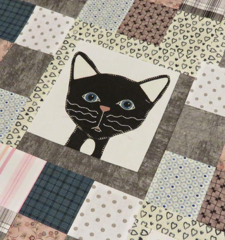 Maggi LOVE 2 sew: Barntäcke/kvilt med svarta katter