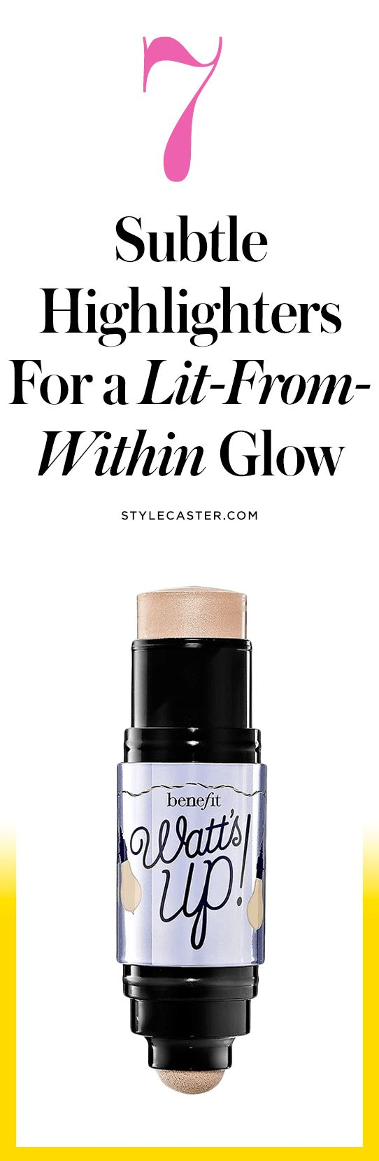 The 7 Best Highlighters for a NATURAL Glow — Thanks to the Kardashian's we're experiencing peak highlighter overload. Save the extreme glitter strobed cheeks for Halloween and opt for these subtle lit-from-within highlighter products instead! | Best Makeup: Highlighters | Plus, check out more beauty product roundup's at stylecaster.com | @stylecaster