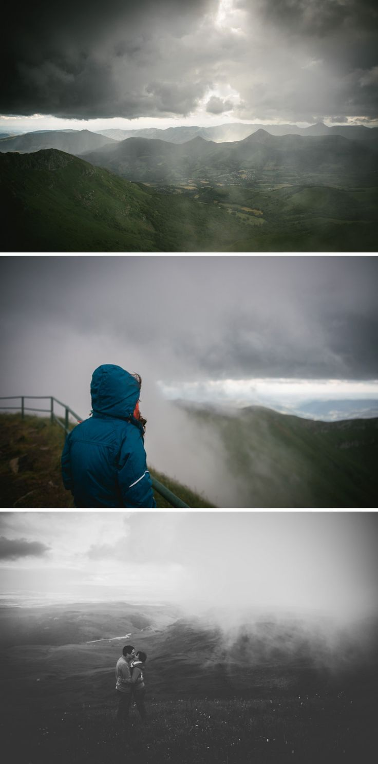 A very foggy and rainy day on top of the Plomb du Cantal, Central France - Zephyr & Luna photography