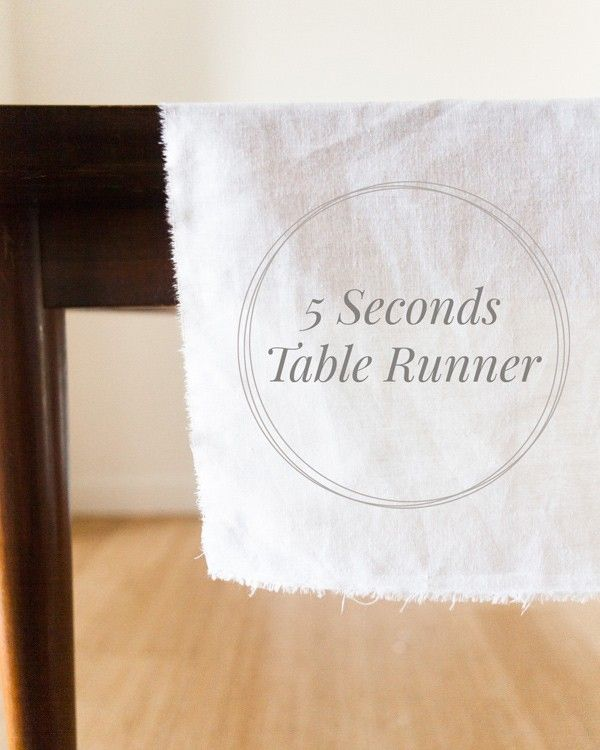 Save time creating your dream DIY wedding with simple but dramatic décor projects like this one from Ruffled. Make a table runner in less than 5 seconds with this easy tutorial for a romantically rustic dinner table.