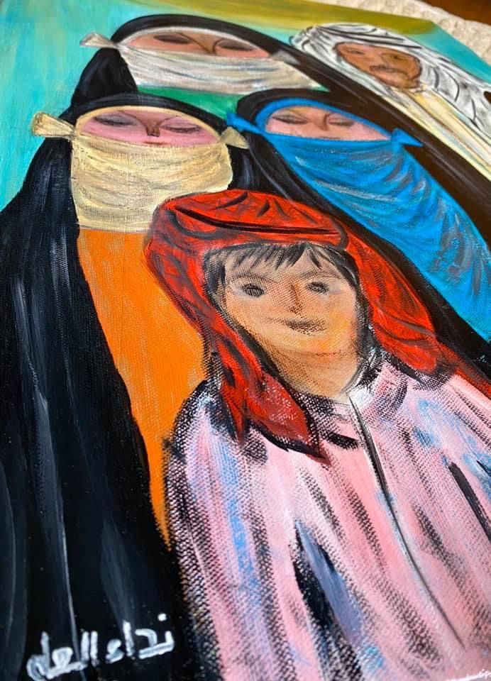 فن تشكيلي عراقي رسومات شرقية Folk Art Painting Egyptian Art Islamic Art