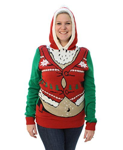 Best Seller Ugly Christmas Sweater Plus Size Womens Fat Santa