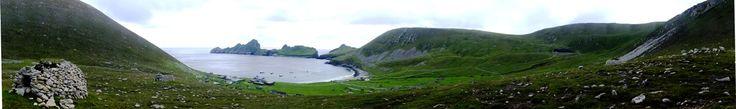 <<PANORAMA>>Isl of Hirta, St Kilda world heritage site in  Scotland UK. 世界遺産(複合遺産)、セント・キルダ。@スコットランド,イギリス http://www.kilda.org.uk/
