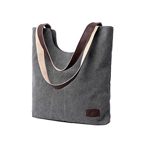 New Trending Tote Bags: WLE A010 Women Simple Style Canvas Tote Bag Lady Daily Purse Shoulder Hobo Bag, Gray. WLE A010 Women Simple Style Canvas Tote Bag Lady Daily Purse Shoulder Hobo Bag, Gray   Special Offer: $12.95      477 Reviews Uesd in the daily use and travel, comfortable and durable. Fashion and classic forever . Humanized design which could be used as a purse, cross body handbag, school...