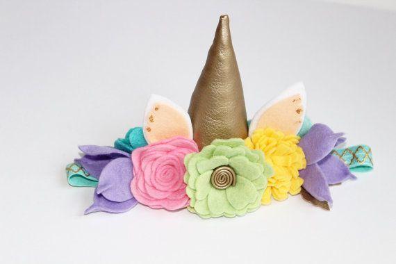 Follow the Rainbow Unicorn  flower crown , birthday girl , birthday ideas , kids fashion , felt flowers , fashion , birthday , cute , party , hair accessories , accessories , mermaid party , roses , pink birthday , blog , baby , toddler, party favors , party favor ideas , pastel