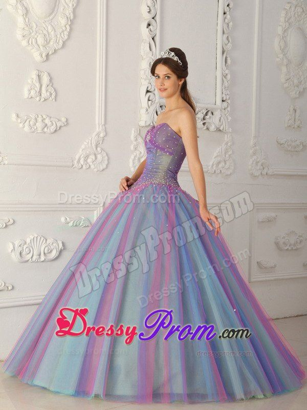 multi colored prom dresses ball gown style - Google Search | dresses ...