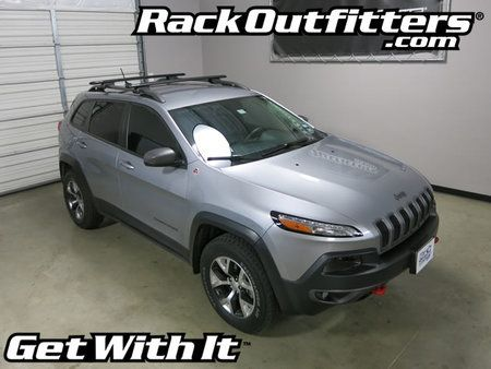 Jeep Cherokee Trailhawk Rhino-Rack SX BLACK Vortex Aero Roof Rack '14-'16*