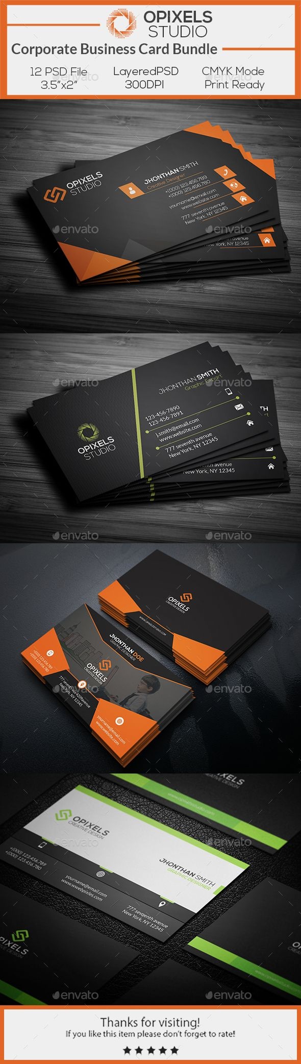 Corporate Business Card Template PSD Bundle. Download here: http://graphicriver.net/item/corporate-business-card-bundle/16837156?ref=ksioks