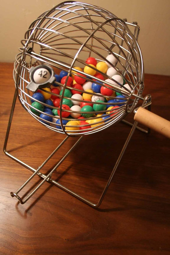 Bingo Cage with 73 Plastic Balls by TurtleHillShop on Etsy, $35.00. I used Bingo cages for my bingo test review. It held the interest of all ages!