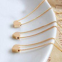Pequeno Bonito Do Amor Do Coração Colares Chocker Ouro Rosa de Prata Banhado A Cadeia de Ligação Colar Barato Para Mulheres Meninas Presente Jóias Collier(China (Mainland))