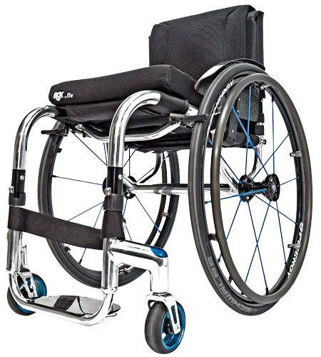Fauteuil roulant léger Tiga FX par RGK - Le fauteuil à cadre rigide qui se plie
