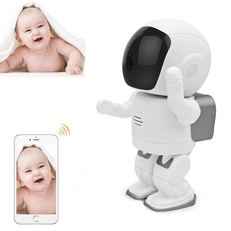 109.00$  Buy here - http://aliqa7.worldwells.pw/go.php?t=32673756351 - Hot Robot Babyfoon Met Camera Monitor Wifi Alarm IP Camera Motion Detection 2-way Audio support MicroSD Card 720P Baby Monitors