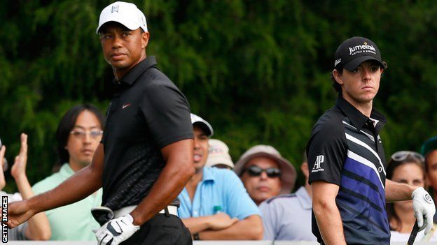 #golf Rory McIlroy says Tiger Woods is not intimidated by him.
