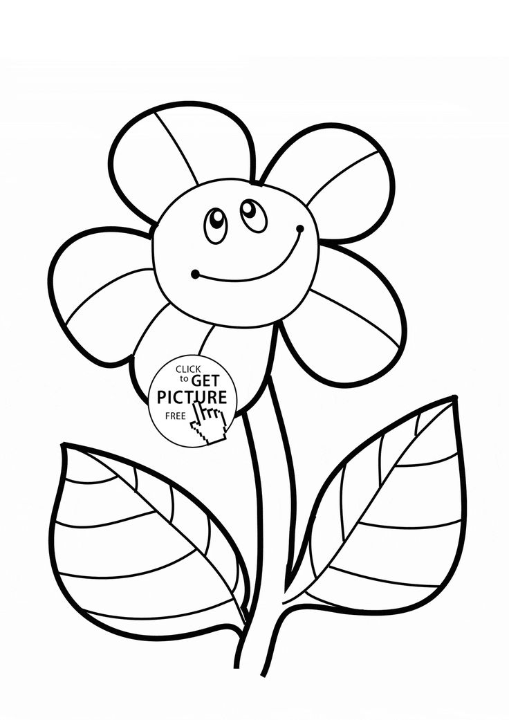 Flower coloring pages for kids for free ~ 29 Best images about Flowers coloring pages on Pinterest ...